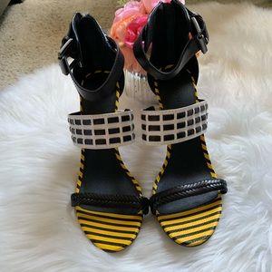 Nine West multicolored heels, size 9.5